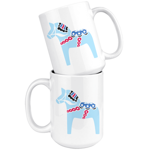 Modern Dala Horse Large Coffee Mug