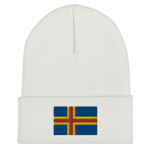 Åland Flag Beanie White - Scandinavian Design Studio