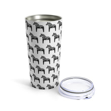 Load image into Gallery viewer, Dala Horse Print 20 oz Insulated Tumbler 20oz - Scandinavian Design Studio