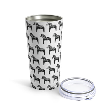 Dala Horse Print 20 oz Insulated Tumbler 20oz - Scandinavian Design Studio