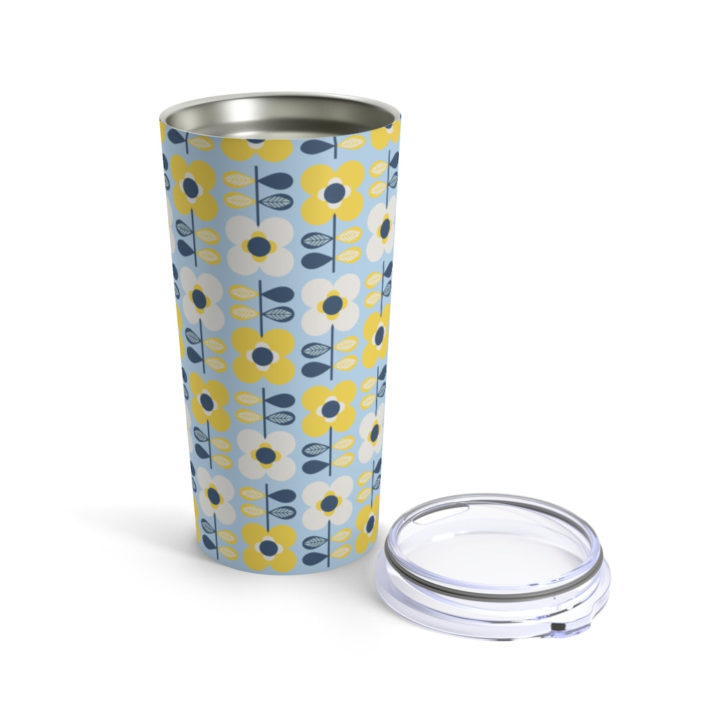 Retro Scandi Flowers 20 oz Insulated Tumbler 20oz - Scandinavian Design Studio