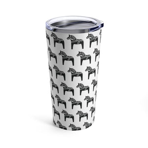 Dala Horse Print 20 oz Insulated Tumbler - Scandinavian Design Studio