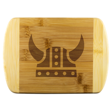 "Load image into Gallery viewer, Viking Helmet Cutting Board Small - 8""x5.75"" - Scandinavian Design Studio"