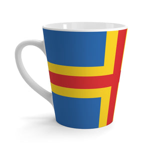 Åland Flag Latte Mug 12oz - Scandinavian Design Studio