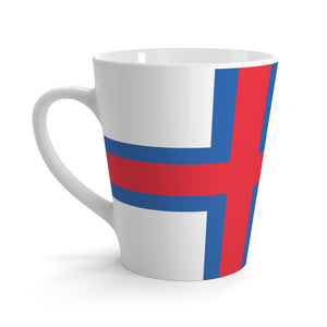 Faroese Flag Latte Mug 12oz - Scandinavian Design Studio