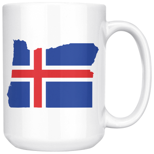 Iceland State Pride Ceramic Mug - Pick Your State 15oz Mug - Scandinavian Design Studio
