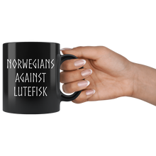 Load image into Gallery viewer, Norwegians Against Lutefisk Coffee Mug - Scandinavian Design Studio
