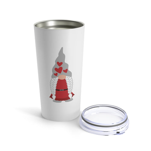 Valentine's Day Girl Gnome 20 oz Insulated Tumbler
