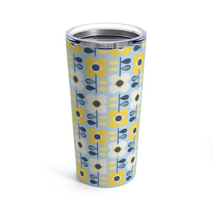 Retro Scandi Flowers 20 oz Insulated Tumbler - Scandinavian Design Studio