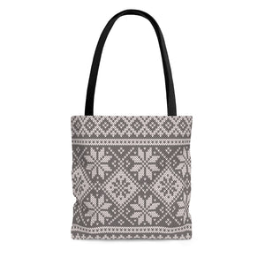 Gray Norwegian Ski Sweater Print Tote Bag