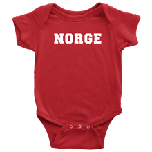 Load image into Gallery viewer, Norge Baby Bodysuit Baby Bodysuit / Red / NB - Scandinavian Design Studio