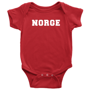 Norge Baby Bodysuit Baby Bodysuit / Red / NB - Scandinavian Design Studio