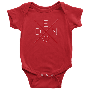 Denmark Love Baby Bodysuit Baby Bodysuit / Red / NB - Scandinavian Design Studio