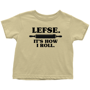 Lefse It's How I Roll Toddler Tee Toddler T-Shirt / Lemon / 2T - Scandinavian Design Studio