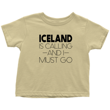 Load image into Gallery viewer, Iceland Is Calling And I Must Go Toddler Tee Toddler T-Shirt / Lemon / 2T - Scandinavian Design Studio