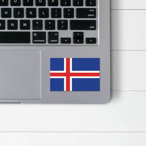 Icelandic Flag Sticker - Scandinavian Design Studio