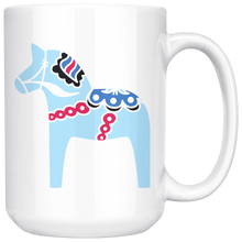 Load image into Gallery viewer, Modern Dala Horse Large Coffee Mug