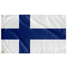 "Load image into Gallery viewer, Finnish Flag Wall Flag - 36""x60"" - Scandinavian Design Studio"