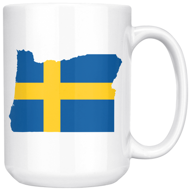 Sweden State Pride Ceramic Mug - Pick Your State 15oz Mug - Scandinavian Design Studio