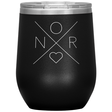 Norway Love Wine Tumbler Black - Scandinavian Design Studio