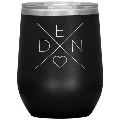Denmark Love Wine Tumbler Black - Scandinavian Design Studio