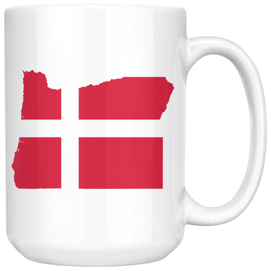 Denmark State Pride Ceramic Mug - Pick Your State 15oz Mug - Scandinavian Design Studio