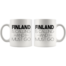 Load image into Gallery viewer, Finland Is Calling And I Must Go Coffee Mug - Scandinavian Design Studio