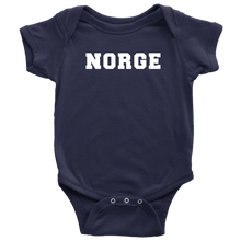 Load image into Gallery viewer, Norge Baby Bodysuit Baby Bodysuit / Navy / NB - Scandinavian Design Studio