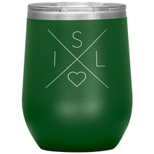Load image into Gallery viewer, Iceland Love Wine Tumbler Green - Scandinavian Design Studio