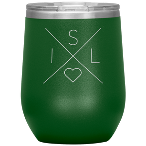 Iceland Love Wine Tumbler Green - Scandinavian Design Studio