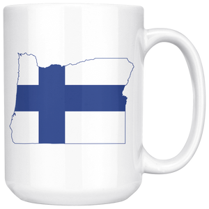 Finland State Pride Ceramic Mug - Pick Your State 15oz Mug - Scandinavian Design Studio