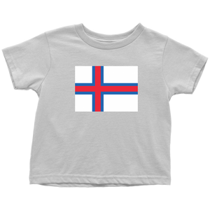 Faroese Flag Toddler Tee Toddler T-Shirt / White / 2T - Scandinavian Design Studio