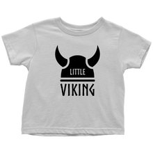 Load image into Gallery viewer, Little Viking Toddler Tee Toddler T-Shirt / White / 2T - Scandinavian Design Studio