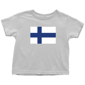 Finnish Flag Toddler Tee Toddler T-Shirt / White / 2T - Scandinavian Design Studio
