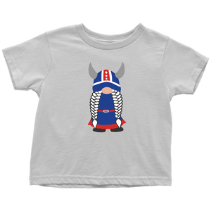 Icelandic Viking Girl Gnome Toddler Tee Toddler T-Shirt / White / 2T - Scandinavian Design Studio
