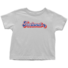 Load image into Gallery viewer, Retro Iceland Toddler Tee Toddler T-Shirt / White / 2T - Scandinavian Design Studio