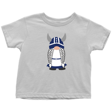 Load image into Gallery viewer, Finnish Viking Girl Gnome Toddler Tee Toddler T-Shirt / White / 2T - Scandinavian Design Studio