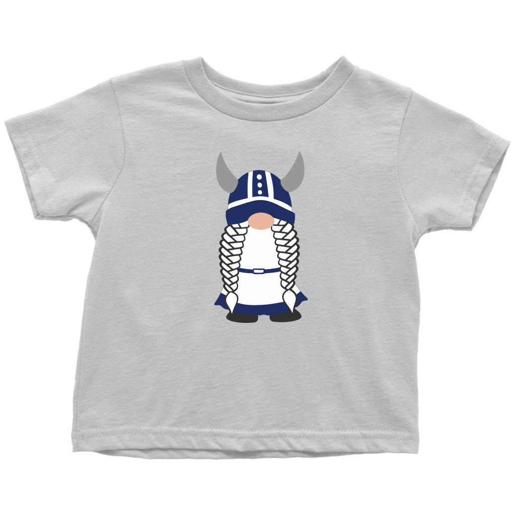 Finnish Viking Girl Gnome Toddler Tee Toddler T-Shirt / White / 2T - Scandinavian Design Studio