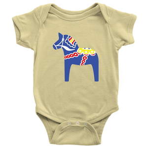 Traditional Dala Horse Baby Bodysuit - Scandinavian Design Studio