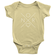 Load image into Gallery viewer, Norway Love Baby Bodysuit Baby Bodysuit / Lemon / NB - Scandinavian Design Studio