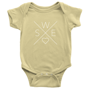 Sweden Love Baby Bodysuit