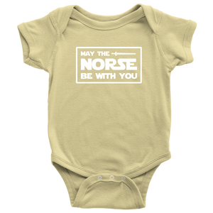 May The Norse Be With You Baby Bodysuit Baby Bodysuit / Lemon / NB - Scandinavian Design Studio