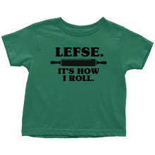 Load image into Gallery viewer, Lefse It's How I Roll Toddler Tee Toddler T-Shirt / Kelly / 2T - Scandinavian Design Studio