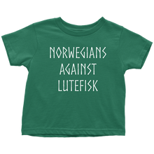 Load image into Gallery viewer, Norwegians Against Lutefisk Toddler Tee Toddler T-Shirt / Kelly / 2T - Scandinavian Design Studio