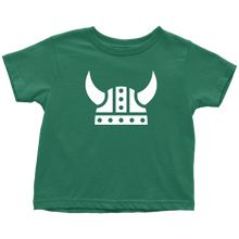 Load image into Gallery viewer, Viking Helmet Toddler Tee Toddler T-Shirt / Kelly / 2T - Scandinavian Design Studio