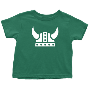 Viking Helmet Toddler Tee Toddler T-Shirt / Kelly / 2T - Scandinavian Design Studio