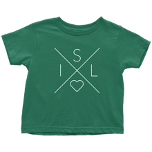 Load image into Gallery viewer, Iceland Love Toddler Tee Toddler T-Shirt / Kelly / 2T - Scandinavian Design Studio