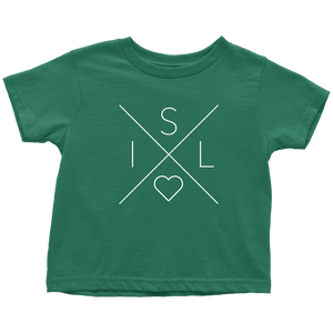Iceland Love Toddler Tee Toddler T-Shirt / Kelly / 2T - Scandinavian Design Studio