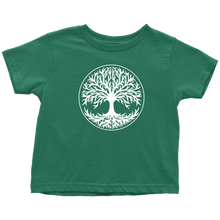 Load image into Gallery viewer, Tree Of Life Toddler Tee Toddler T-Shirt / Kelly / 2T - Scandinavian Design Studio