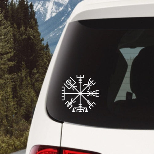 Viking Compass Vinyl Decal
